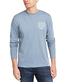 Men's Red Fleece Logo Graphic T-Shirt