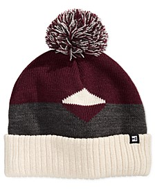 Men's Colorblocked Pom Pom Beanie