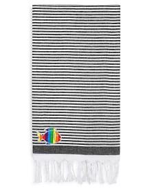 Linum Home 100% Turkish Cotton Soft Stripes Sparkling Rainbow Fish Pestemal Beach Towel