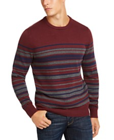 Club Room Men's Regular-Fit Stripe Sweater, Created for Macy's