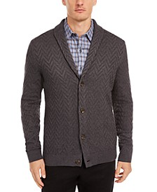 Men's Zig-Zag Shawl-Collar Cardigan, Created for Macy's