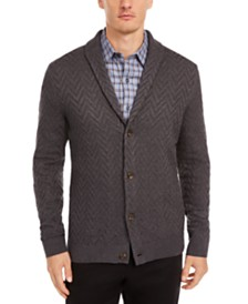 Tasso Elba Men's Zig-Zag Shawl-Collar Cardigan, Created for Macy's