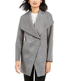 Tahari Wing-Collar Coat