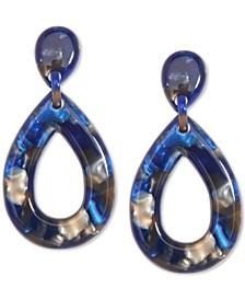 Patterned Acetate Teardrop Drop Earrings