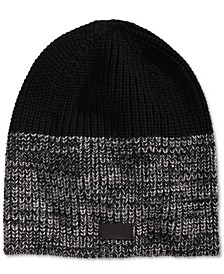 Men's Marled Colorblocked Beanie, Created for Macy's