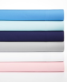 Martha Stewart Essentials Solid Microfiber 4-Pc. Sheet Sets, Created for Macy's