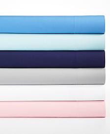Martha Stewart Essentials Solid Microfiber 4-Pc. Sheet Sets, Created for Macy's