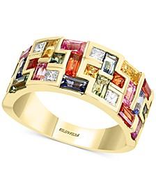 EFFY® Multi-Sapphire (3-1/20 ct. t.w.) & Diamond (1/5 ct. t.w.) Statement Ring in 14k Gold