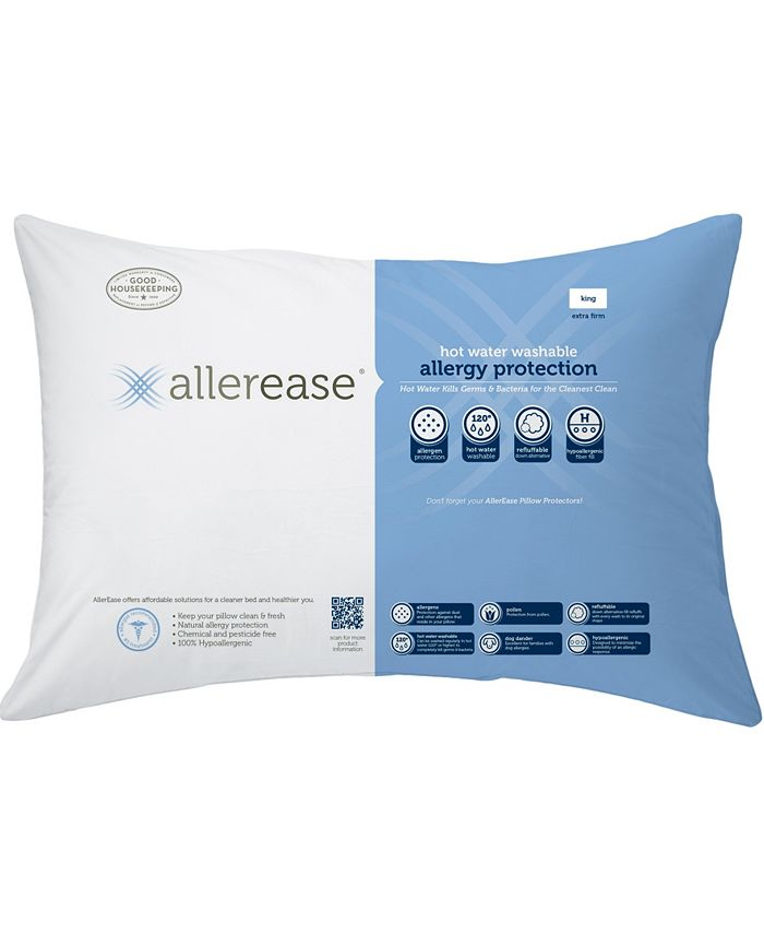 AllerEase - Hot Water Wash Extra Firm Density King Pillow