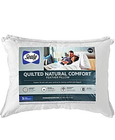 Quilted Natural Comfort Feather Standard/Queen Pillow 2 Pack