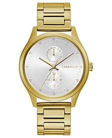 Men's Gold-Tone Stainless Steel Bracelet Watch 41mm