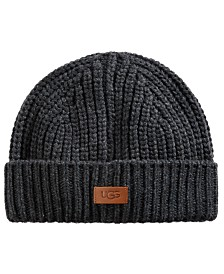 UGG® Men's Ribbed-Knit Cuffed Hat