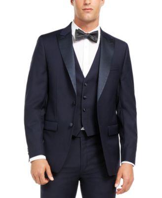 Men's Slim-Fit Stretch Navy Tuxedo Suit Separate Jacket