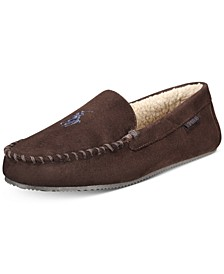 Men's Extended Size Faux-Suede Slippers