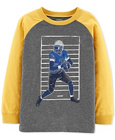 Carter's Little & Big Boys Football-Print Cotton T-Shirt