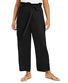 Trendy Plus Size Paperbag Cargo Pants
