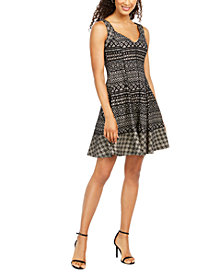 Donna Ricco Printed Fit & Flare Dress