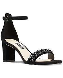Perla Block-Heel Sandals