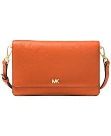 MICHAEL Michael Kors Pebble Leather Phone Crossbody Wallet