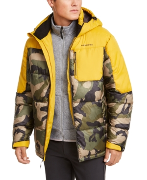 Hawke & Co. Outfitter Men's Puffer Jacket, Created For Macy's In Army Camo/dull Gold