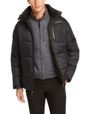 Hawke & Co. Outfitter Men's Puffer Jacket, Created For Macy's In Black