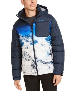 Hawke & Co. Outfitter Men's Puffer Jacket, Created For Macy's In Blue Mountain/hawke Navy