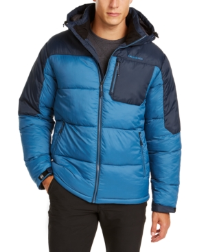 Hawke & Co. Outfitter Men's Puffer Jacket, Created For Macy's In Dark Blue/hawke Navy