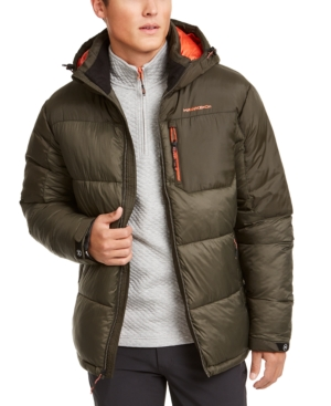 Hawke & Co. Outfitter Men's Puffer Jacket, Created For Macy's In Loden