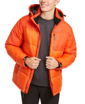 Hawke & Co. Outfitter Men's Puffer Jacket, Created For Macy's In Princeton Orange