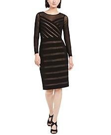 Semi-Sheer Mesh Dress