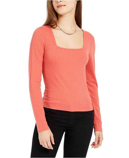 Planet Gold Juniors' Square-Neck Top