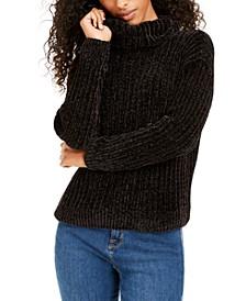 Juniors' Chenille Turtleneck Sweater