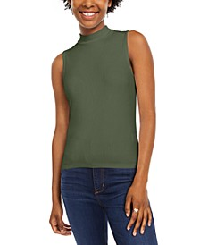 Juniors' Sleeveless Mock-Neck Top