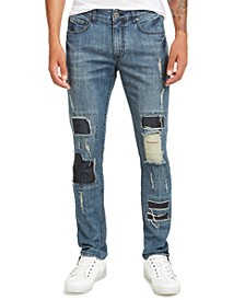 INC Men's Ripped Skinny Jeans, Created for Macy's