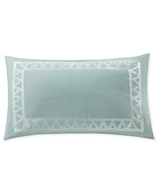 "Echo Mykonos Embroidered 12"" x 20"" Decorative Pillow"