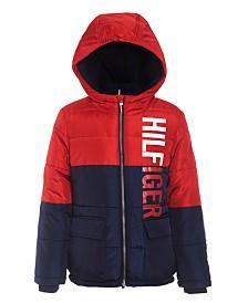 Tommy Hilfiger Big Boys Jack Hooded Colorblocked Jacket