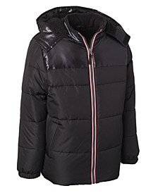 Big Boys Hooded Puffer Jacket With Hat