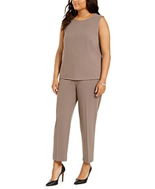 Plus Size Sleeveless Top & Pull-On Pants