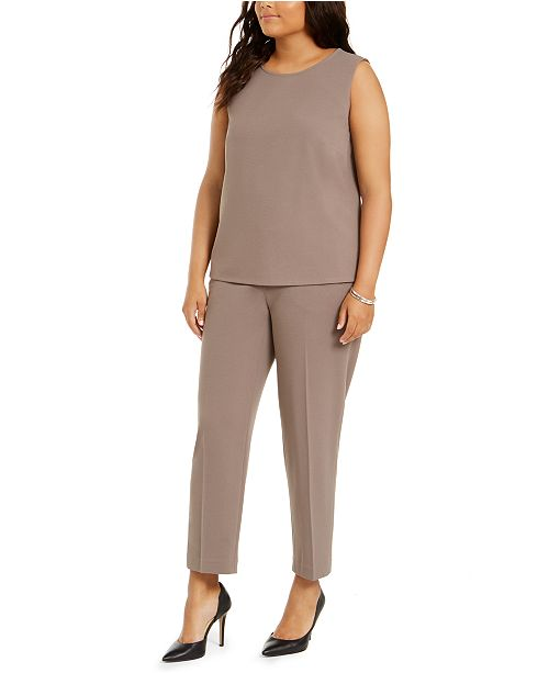 Nine West Plus Size Sleeveless Top & Pull-On Pants