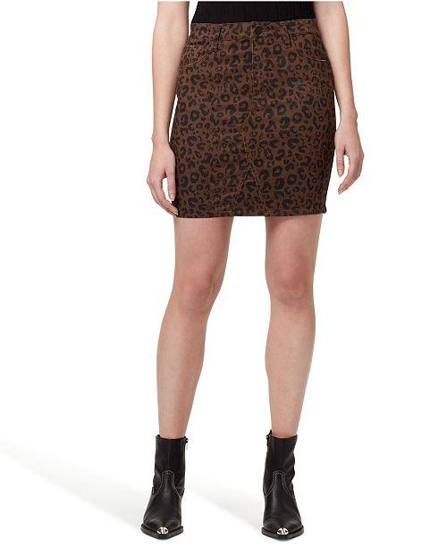 Sanctuary Denim Sia Leopard Printed Jean Skirt