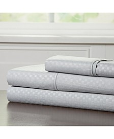 Home Brushed Microfiber Twin Sheets Set- 3 Piece Hypoallergenic Bed Linens with Deep Pocket Fitted Sheet and Embossed Design