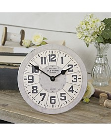 VIP Home & Garden Antique and Metal Table Clock
