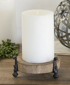 VIP Home & Garden Wood Candle Holder