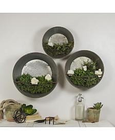 VIP Home & Garden 3-Piece Metal Wall Buckets