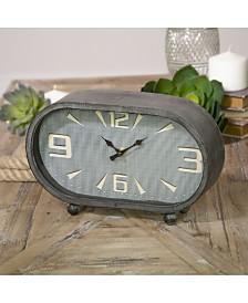 VIP Home & Garden Oval Metal Table Clock
