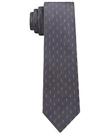 Calvin Klein Men's Skinny Refined Dashes Tie