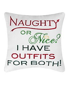 C&F Home Nice Outfits Embroidered Pillow