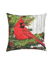 C&F Home Christmas Bird Indoor/Outdoor Pillow