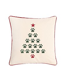 C&F Home Christmas Tree Paws Pillow