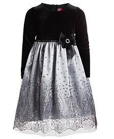 Toddler Girls Silver-Tone Sparkle Dress